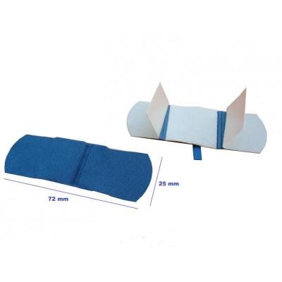 Detekterbara blå plåster - Detekterbar med röntgen - 7.2x2.5cm (100 pcs)
