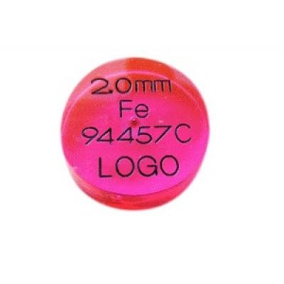 Provstycken för Metalldetektor  DISK - Ø35mmx10mm- boll upp till 8mm