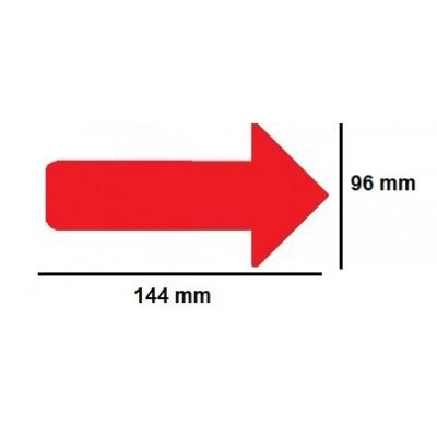 Golvmärknings etikett - pil  96x144mm