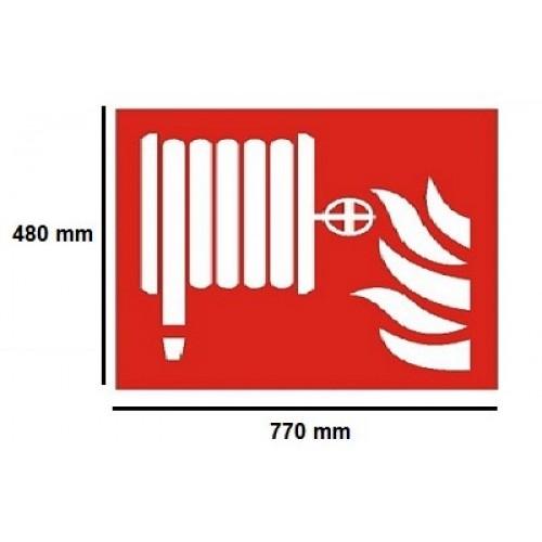 Golvmärknings etikett - vattenslang 770x480mm