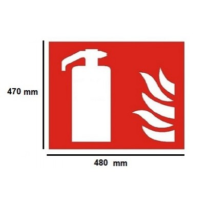 Golvmärknings etikett - brandsläckare 470x480mm