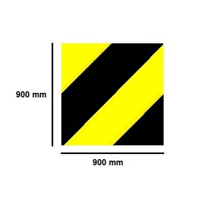 Golvmärknings etikett - zon 900x900mm