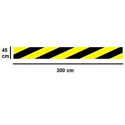 Golvmärknings etikett- brand dörr 3000x450mm