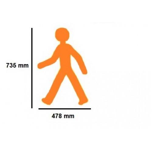 Golvmärknings etikett - människa  - 478x735mm