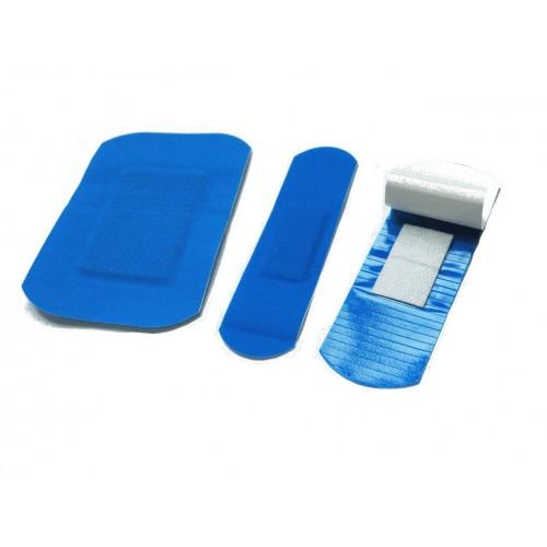 Detekterbara blå plåster Mix av 3 storlekar 100st/fp