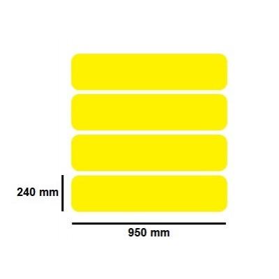 Golvmärknings etikett - zebra  - 950x240mm