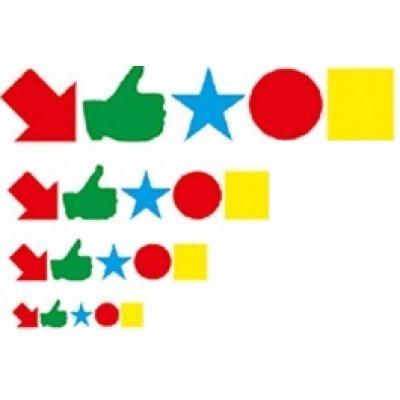 Magnet symbol - 4x4 (10st-mix)