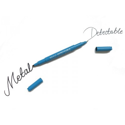Detekterbar Överstrykningspenna - Fineliner TWIN Blå
