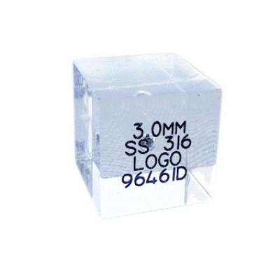 Provstycken för Metalldetektor  KUB - 20x20x20mm