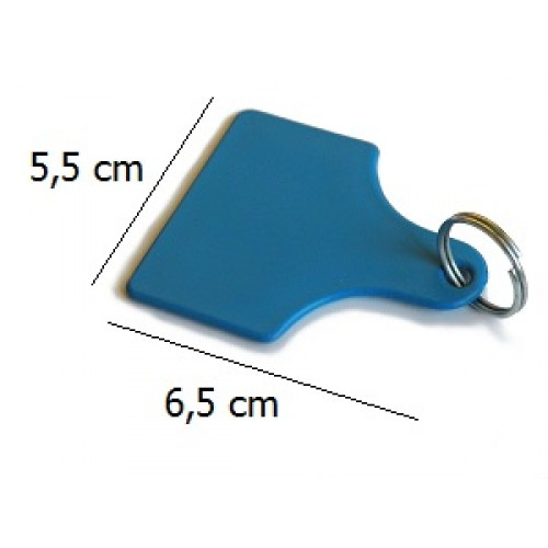 Detekterbara tags stora (55x65mm)